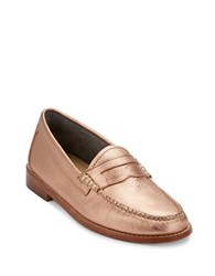 G.H. Bass Whitney Leather Penny Loafers Rose Gold