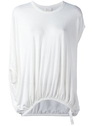 Lost And Found Ria Dunn Elasticated Hem T Shirt White