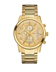 Guess Goldtone Masculine Dress Chronograph Watch