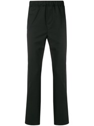 Oamc Straight Trousers Cotton Polyester Wool Cupro Black