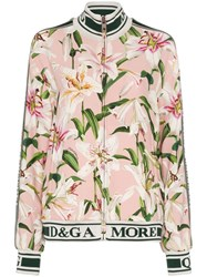 Dolce And Gabbana Cady Lily Print Track Jacket Multicolour