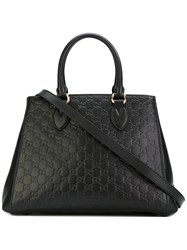 Gucci Signature Tote Bag Women Leather One Size Black