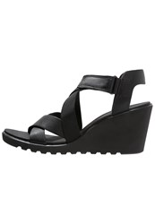 Ecco Freja Wedge Sandals Black