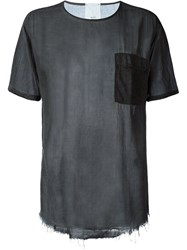 Lost And Found Rooms Frayed Sheer T Shirt Grey
