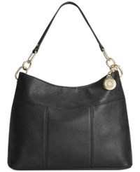 Tommy Hilfiger Th Signature Leather Small Hobo Black