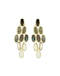 Kendra Scott 14K Embry Chandelier Earrings Black Sand