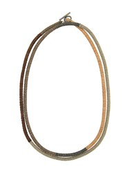 Brunello Cucinelli Faceted Bead Necklace Brown