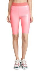 Heroine Sport Vinyl Downtown Shorts Pink Sunrise