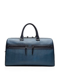 Ted Baker Exprez Geo Print Leather Holdall Navy