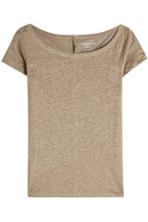 Majestic Linen T Shirt With Buttoned Back Gr. 1