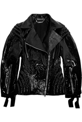 Alexander Mcqueen Patent Leather Biker Jacket