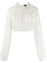 Magda Butrym Ruffled Trim Lace Detail Blouse 60