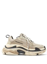 Balenciaga Triple S Low Top Trainers Beige