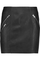 Muubaa Iverna Leather Mini Skirt Black