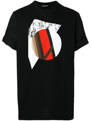 Neil Barrett Abstract Print T Shirt Men Cotton M Black