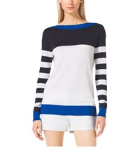 Michael Michael Kors Striped Boatneck Sweater