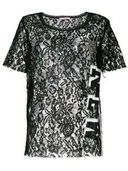 Femme By Michele Rossi Lace T Shirt Black