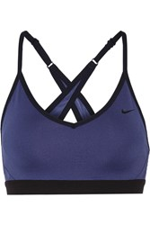Nike Pro Indy Stretch Jersey Sports Bra Blue
