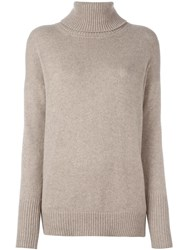 Giada Benincasa Embellished Elbow Patch Knit Jumper Nude Neutrals