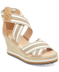 Tommy Hilfiger Yesia Espadrille Platform Wedge Sandals Created For Macy's Women's Shoes Gold