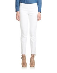 Cece Side Zip Skinny Jeans White