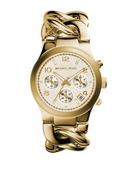Michael Kors Ladies Gold Ionic Plated Chain Link Watch