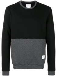 The Editor Colour Block Sweatshirt Black
