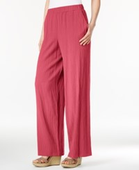 Jm Collection Petite Pull On Wide Leg Crinkle Pants Only At Macy's Perfect Rose
