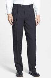 Berle Men's Self Sizer Waist Pleated Trousers