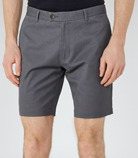 Reiss Wicker Mens Tailored Cotton Shorts In Blue