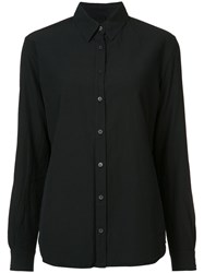 Forme D'expression Juxtapose Long Sleeve Shirt Women Cotton M Black