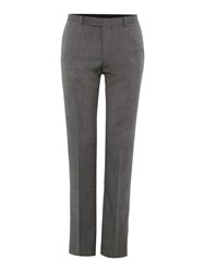 New And Lingwood Chiswick Oxford Flat Front Suit Trousers Grey