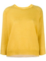 Moncler Knitted Round Neck Sweater Yellow Orange