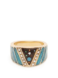 Jacquie Aiche Diamond Opal And Yellow Gold Ring