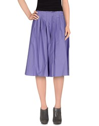 Les Copains Skirts Knee Length Skirts Women Purple