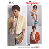 Simplicity Women's Vintage Stole And Scarf Sewing Pattern 8530