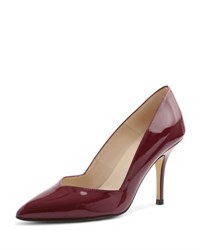Andre Assous Steph Patent Pointed Toe Pump Burgundy
