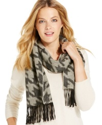 Charter Club Exploded Houndstooth Cashmere Muffler Only At Macy's