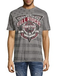 Affliction Rbr Rawhide Cotton Tee Grey