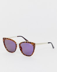 Quay Australia Honey Cat Eye Sunglasses In Tort Brown
