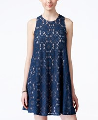 American Rag Juniors' Lace Illusion Shift Dress Only At Macy's Denim