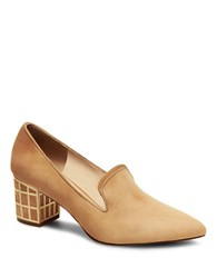 Brian Atwood Kendal Point Toe Pumps Camel