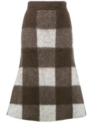 Balenciaga Big Check Midi Skirt