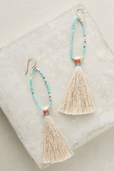 Anthropologie Lupe Beaded Drop Earrings Turquoise