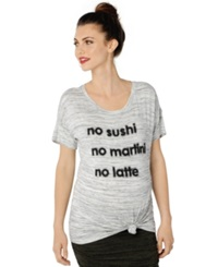A Pea In The Pod Maternity Short Sleeve Graphic Tee Spacedye
