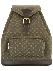 Louis Vuitton Vintage Montsouris Gm Backpack Green