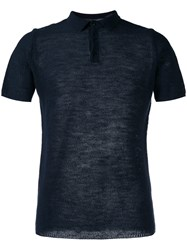 Roberto Collina Plain Polo Shirt Blue