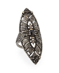 Bavna Pave Diamond And Spinel Cocktail Ring Size 7