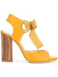 Lanvin Bow Tie Sandals Yellow