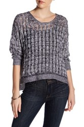 Inhabit Weekend Linen And Cashmere Blend Pullover Sweater Gray